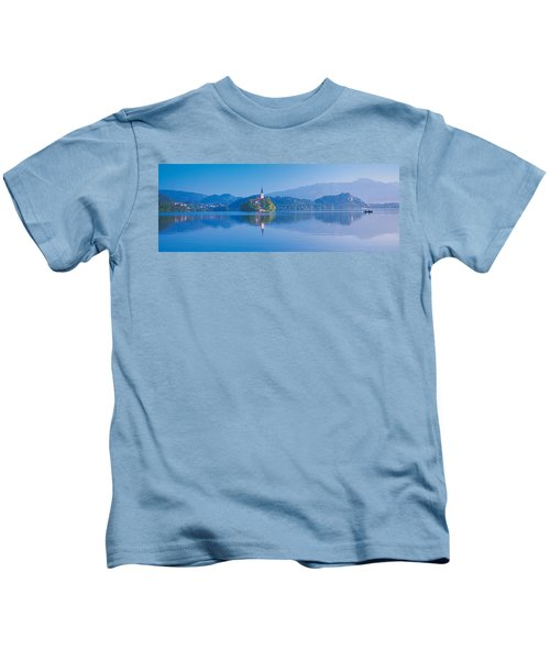 Reflection Of Mountains And Buildings Kids T-Shirt