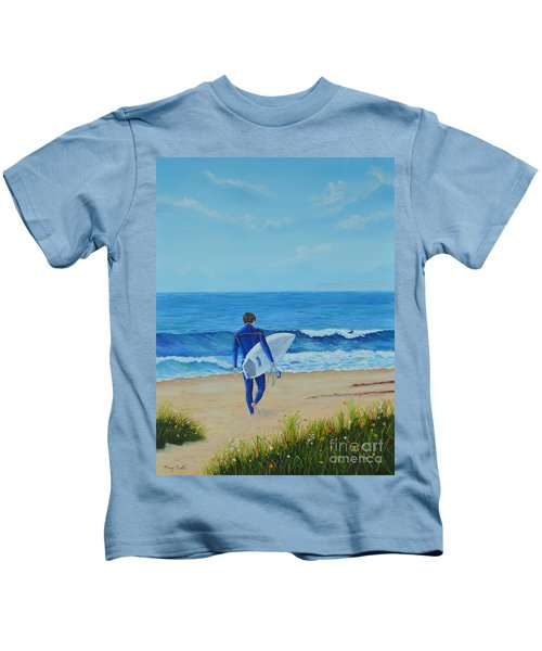 Returning To The Waves Kids T-Shirt