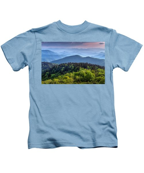 Ridges At Sunset Kids T-Shirt