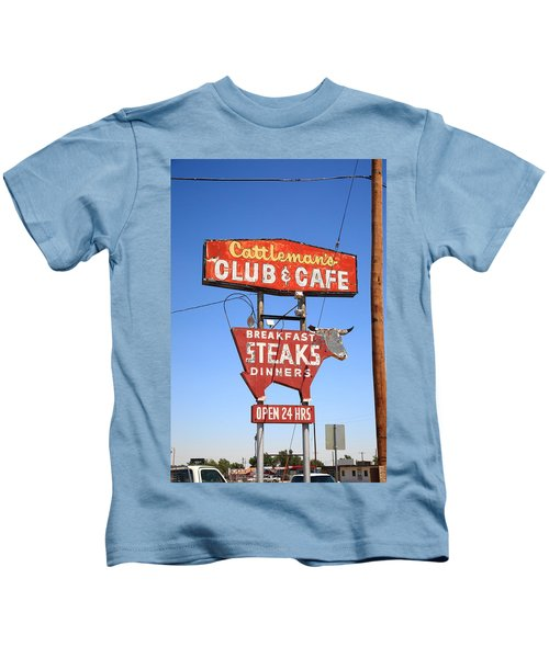 Route 66 - Cattleman's Club And Cafe Kids T-Shirt