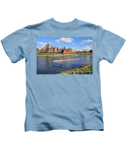 Rowing On The Thames At Hampton Court Kids T-Shirt