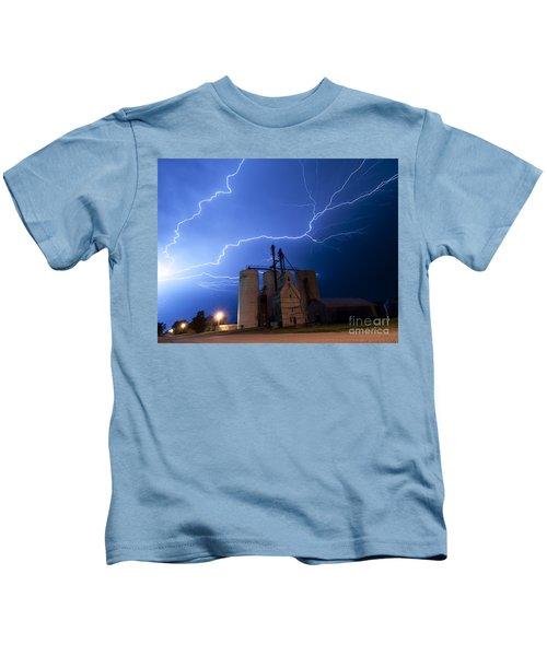 Rural Lightning Storm Kids T-Shirt