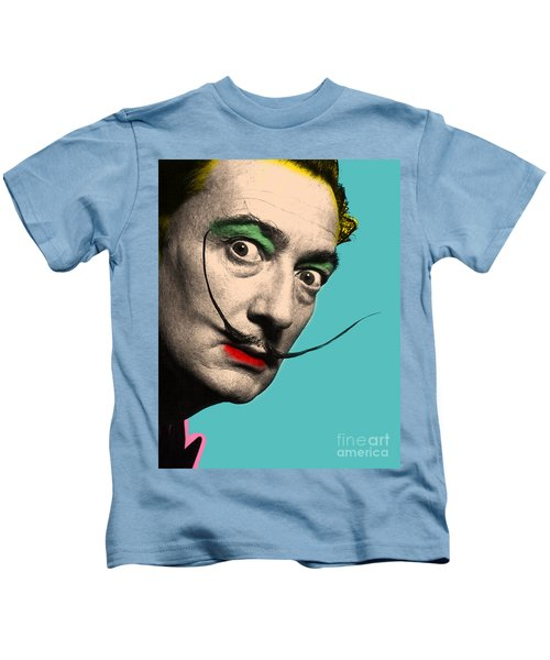 Salvador Dali Portrait Kids T-Shirts | Fine Art America