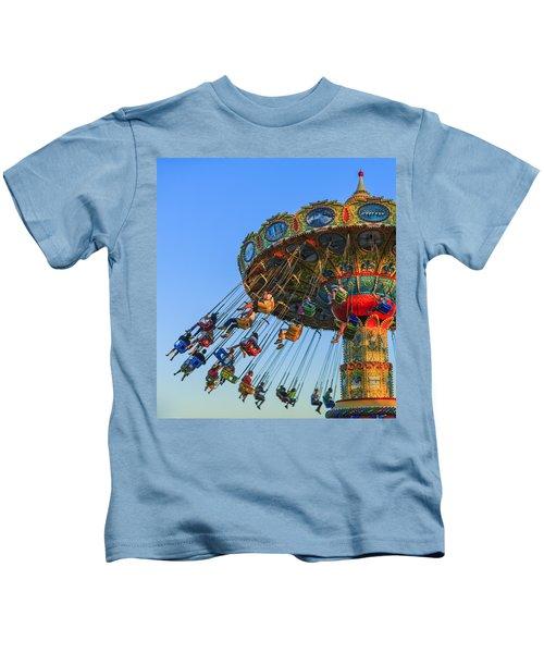 Santa Cruz Seaswing At Sunset 5 Kids T-Shirt