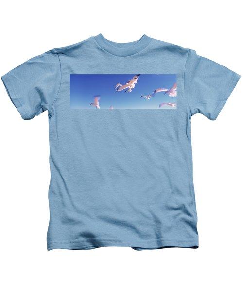 Seagulls Flying Along Route A1a Kids T-Shirt