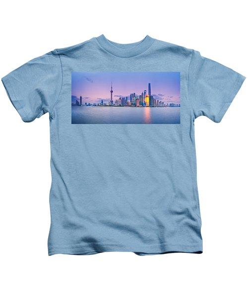 Shanghai Pudong Skyline  Kids T-Shirt