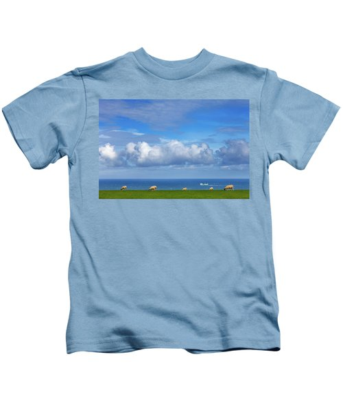 Sheep Grazing On The North Yorkshire Kids T-Shirt