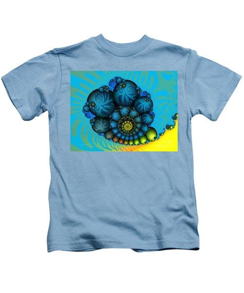 Snail Mail-fractal Art Kids T-Shirt