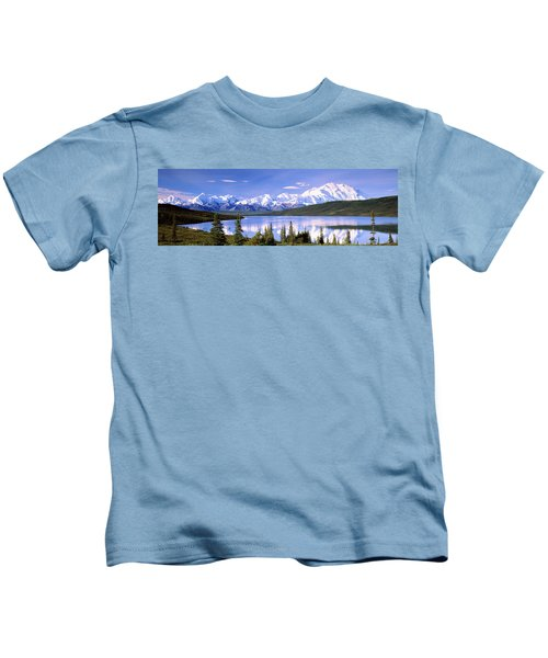 Snow Covered Mountains, Mountain Range Kids T-Shirt