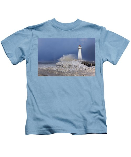 Sodus Bay Lighthouse Kids T-Shirt