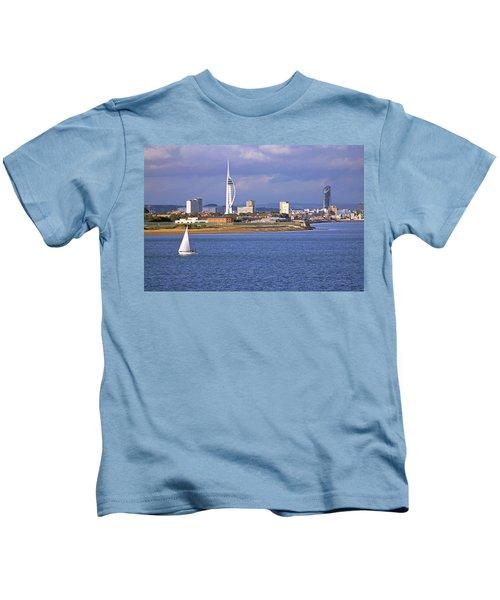 Spinnaker Tower And Gunwharf Quays Kids T-Shirt