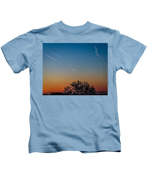 Squadron Of Jet Trails Over Ireland Kids T-Shirt