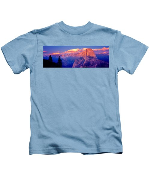 Sunlight Falling On A Mountain, Half Kids T-Shirt by Panoramic Images