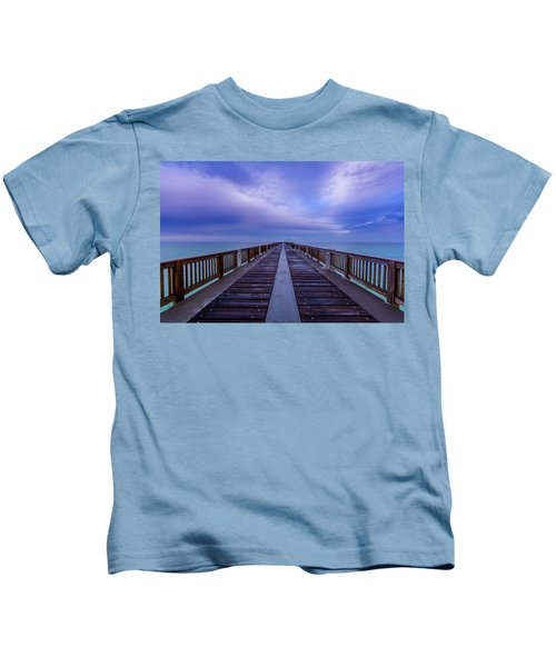 Sunrise At The Panama City Beach Pier Kids T-Shirt