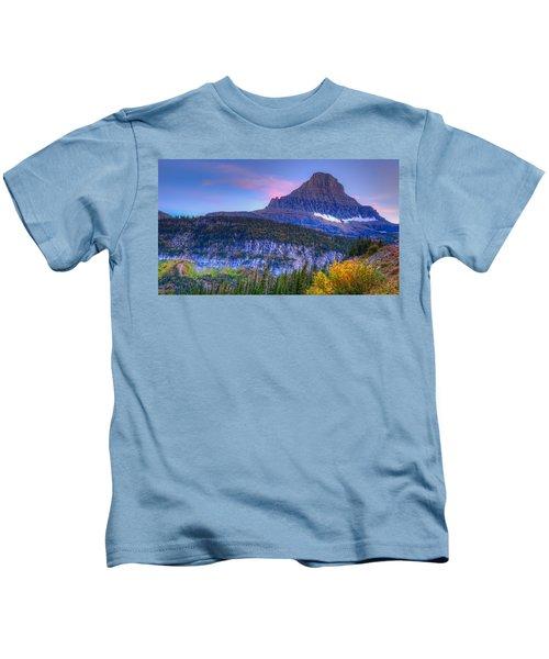 Sunset On Reynolds Mountain Kids T-Shirt