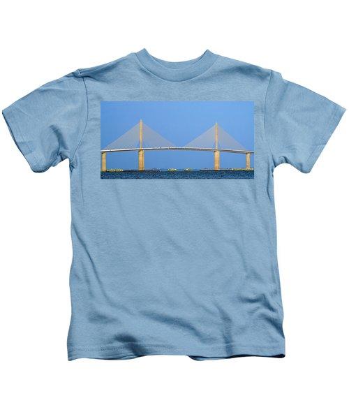 Sunshine Skyway Panorama Kids T-Shirt