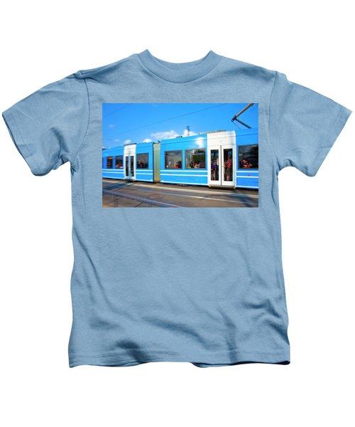 Sweden, Stockholm - Modern Tram Kids T-Shirt