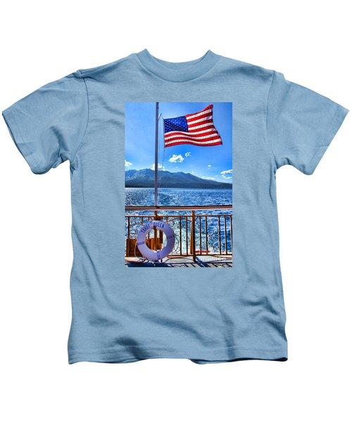 Tahoe Queen Lake Tahoe By Diana Sainz Kids T-Shirt