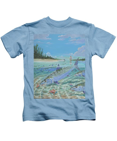 Tailing Bonefish In003 Kids T-Shirt