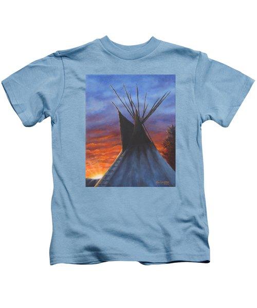 Teepee At Sunset Part 2 Kids T-Shirt