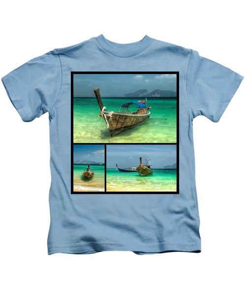 Thailand Longboats Kids T-Shirt