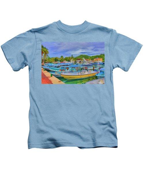The Boats Of Hautulco Kids T-Shirt