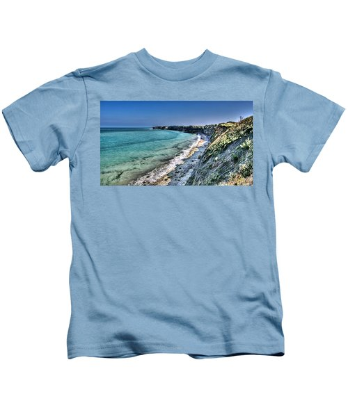 The Cliffs Of Pointe Du Hoc Kids T-Shirt