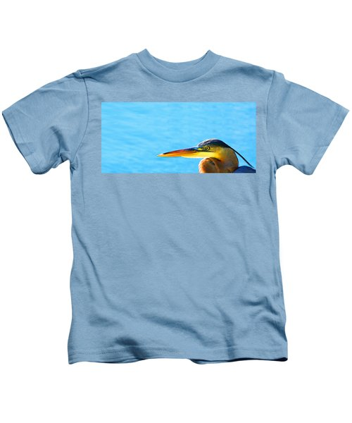 The Great One - Blue Heron By Sharon Cummings Kids T-Shirt by Sharon Cummings