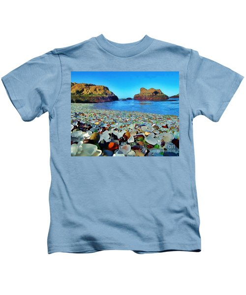 Glass Beach In Cali Kids T-Shirt