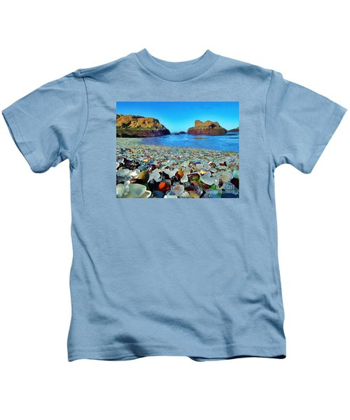 Glass Beach In Cali Kids T-Shirt