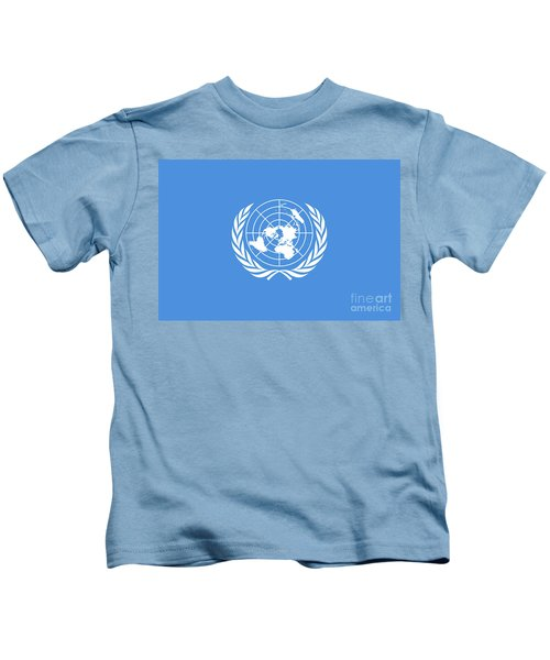 The United Nations Flag  Authentic Version Kids T-Shirt