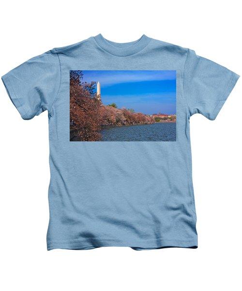 Tidal Basin Cherry Blossoms Kids T-Shirt