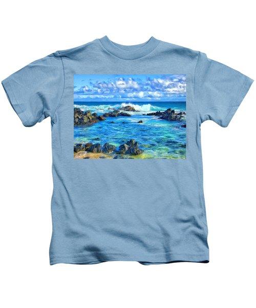 Tide Pool Near Hana Maui Kids T-Shirt