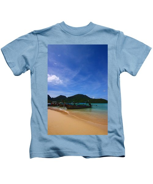 Tranquil Beach Kids T-Shirt