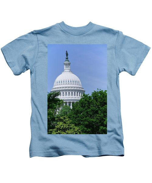 Trees In Spring And U.s. Capitol Dome Kids T-Shirt