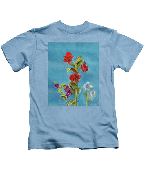 Tropical Flower Kids T-Shirt