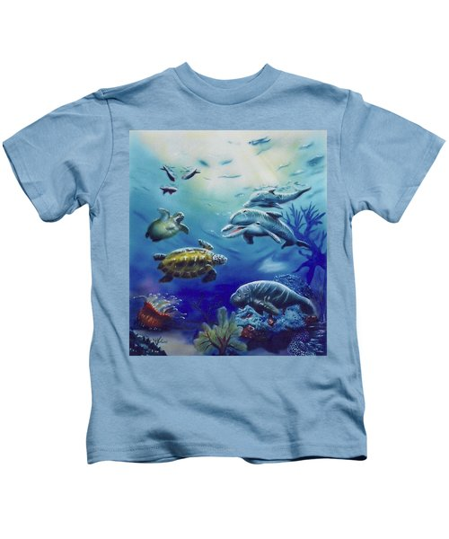 Under Water Antics Kids T-Shirt