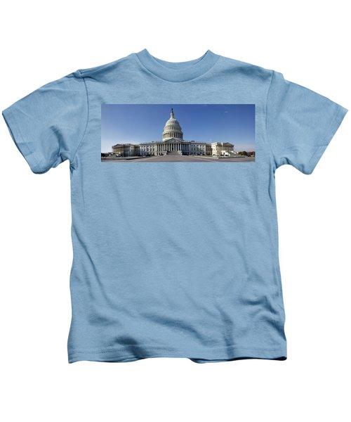 Us Capitol Panorama Kids T-Shirt