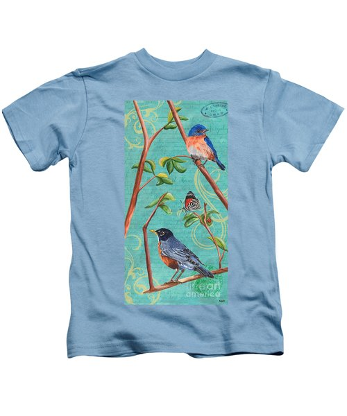 Verdigris Songbirds 1 Kids T-Shirt