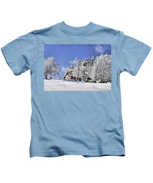 Vermont Winter Beauty Kids T-Shirt
