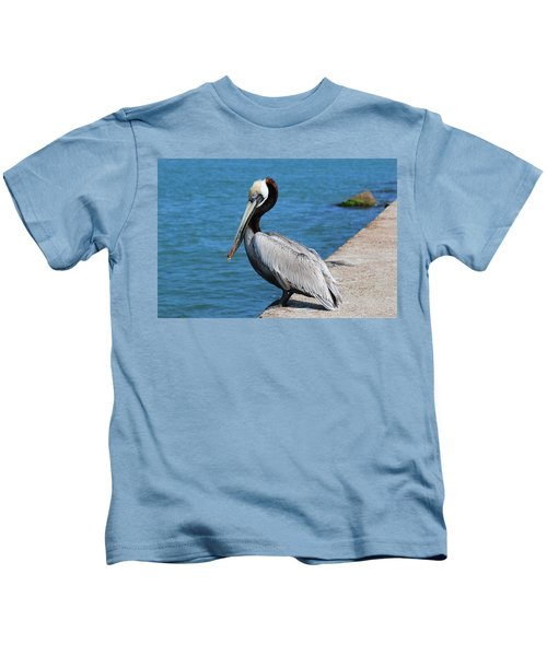 Waiting For A Fish  Kids T-Shirt