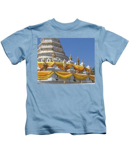 Wat Songtham Phra Chedi Buddha Images Dthb1916 Kids T-Shirt