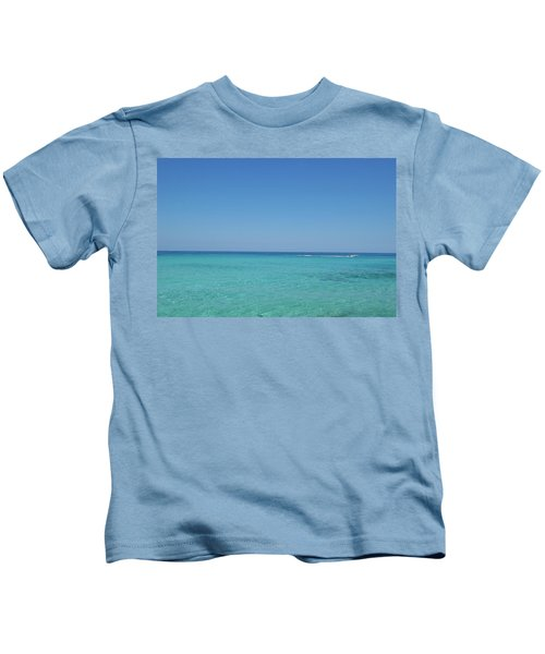 Waterskiing In Llevant Beach Kids T-Shirt