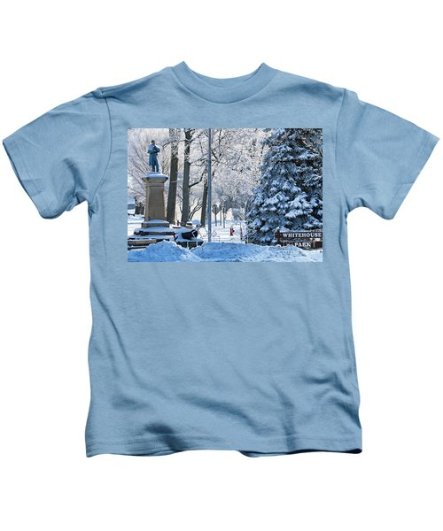 Whitehouse Village Park  7360 Kids T-Shirt by Jack Schultz