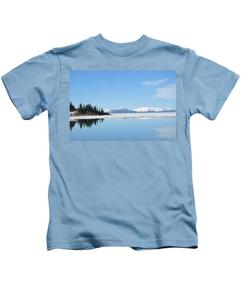 Yellowstone Lake In The Spring Kids T-Shirt