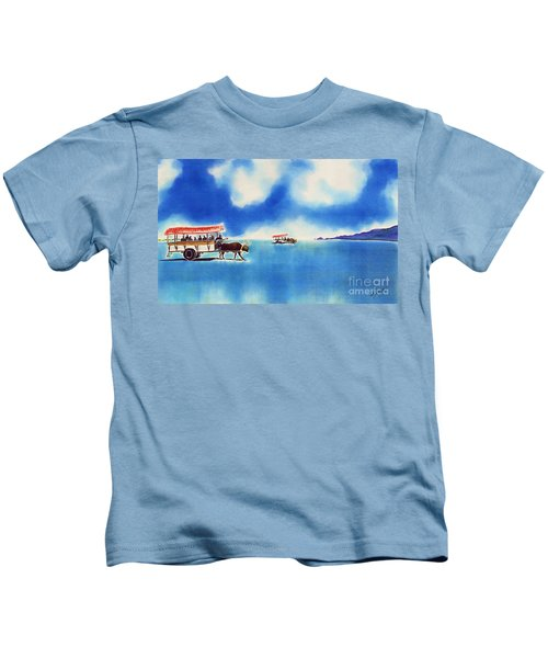 Yubu Island-water Buffalo Taxi  Kids T-Shirt