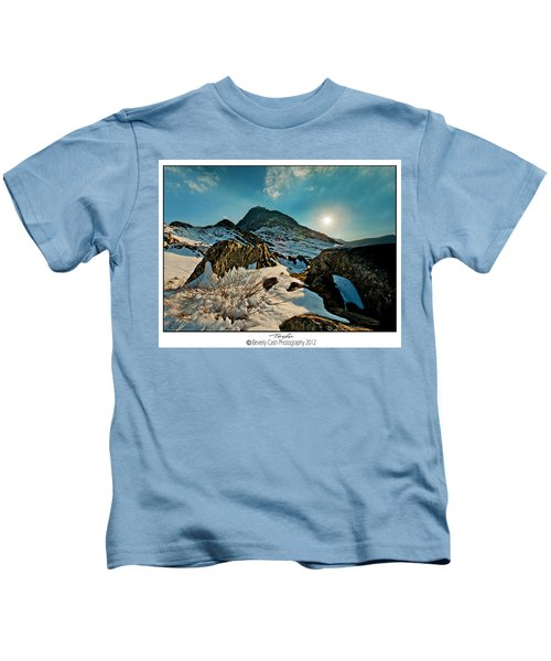 Spring Snows At Tryfan Kids T-Shirt