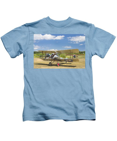 1916 Sopwith Pup Airplane On Airfield Poster Print Kids T-Shirt