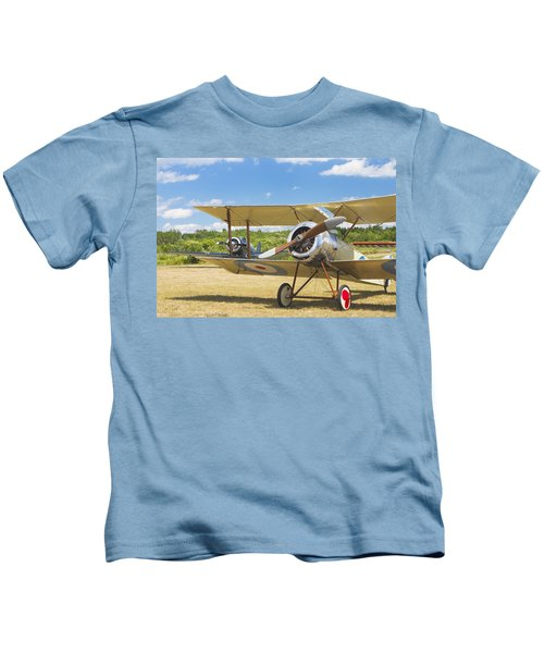 1916 Sopwith Pup Biplane On Airfield Canvas Photo Poster Print Kids T-Shirt