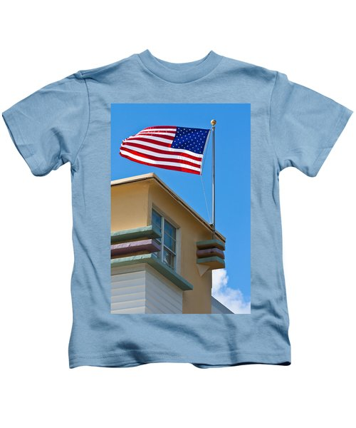 Avalon Hotel In Miami Beach Kids T-Shirt